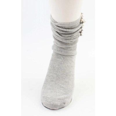 """Socken """"Perlen & Kugeln"""" grau"""