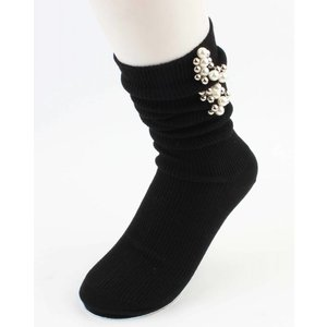"Socks ""Pearls & Balls"" black"