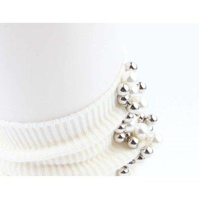 "Socks ""Pearls & Balls"" white"