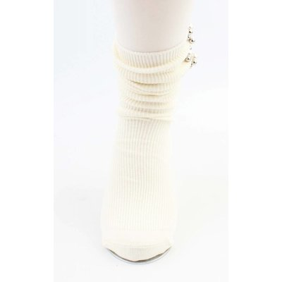"""Socken """"Perlen & Kugeln"""" weiße"""