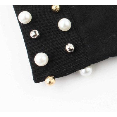 "Maillot ""Pearls"" black"