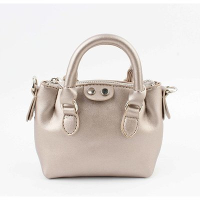 "Crossbody  ""Petit"" metallic taupe"