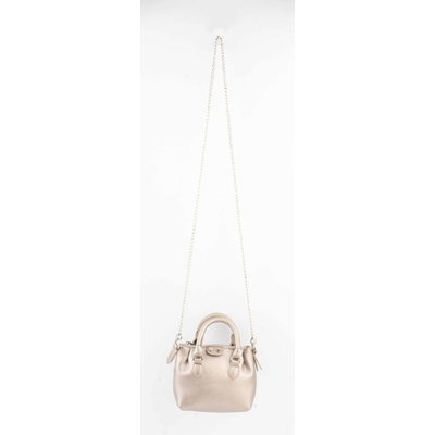 "Cross Body ""Petit"" metallisches taupe"