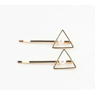 """Haarspangen """"Triangel"""" gold, doppelpack"""