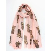 "Scarf ""Pineapple"" pink"