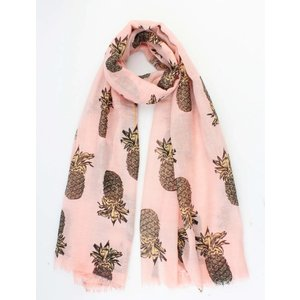 "Sjaal ""Ananas"" roze"