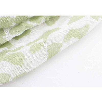 """Schal """"Farbige Leopard"""" grün"""