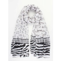 "Scarf ""Zebra"" grey/black"