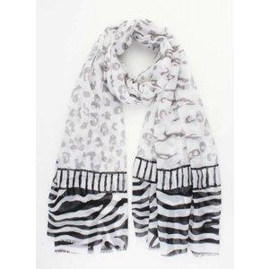 """Sjaal """"Zebra"""" grijs/zwart"""