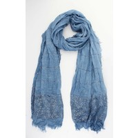 "Scarf ""Summer vibes"" blue"