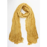 "Scarf ""Summer vibes"" yellow ochre"