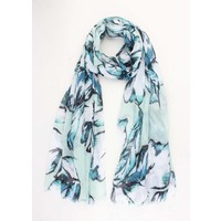 """Scarf """"Colored leaves"""" Mint Green"""