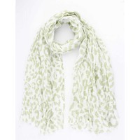 "Scarf ""Colored Leopard"" green"