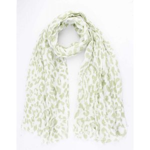 """Scarf """"Colored Leopard"""" green"""