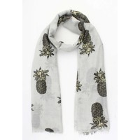 "Scarf ""Pineapple"" grey"
