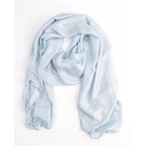 "Scarf ""Happy summer pearls"" blue"