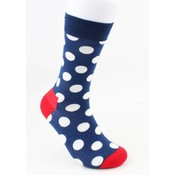 "Herensokken ""Dutch dots"" blauw"