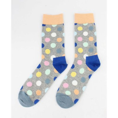 "Herensokken ""Crazy dots"" geel"