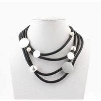 """Necklace """"Pearl mix"""" black"""