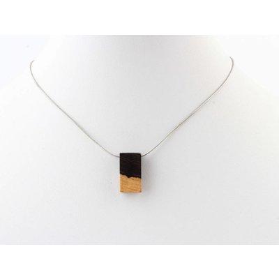 "Kürze Halskette ""Rechteck"" silber"