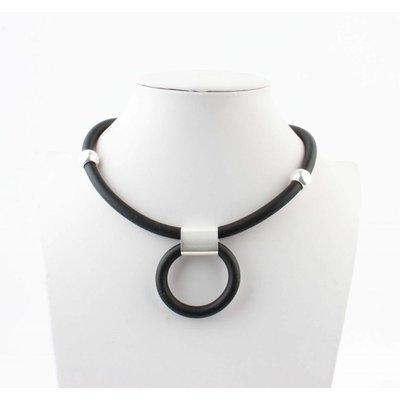 """Short necklace """"Hilda"""" black"""