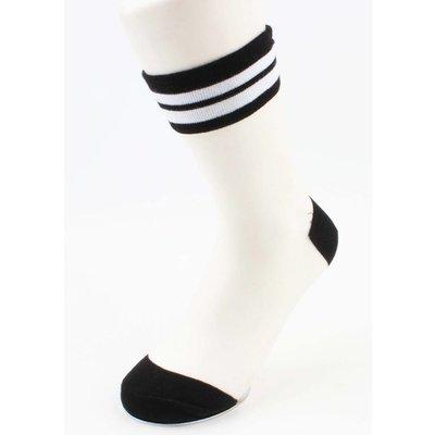 "Sokken ""Mesh & Stripes"" zwart, per 2 paar"