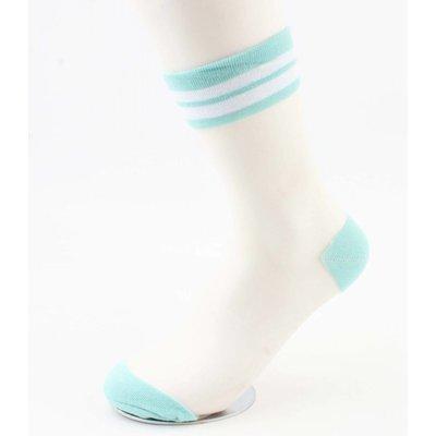 "Socken ""Mesh & Stripes"" mintgrün, doppelpack"