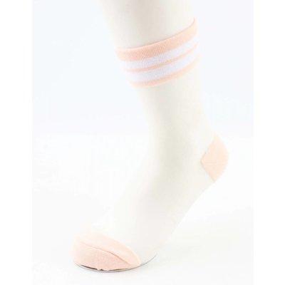 """Sokken """"Mesh & Stripes"""" oud roze, per 2 paar"""