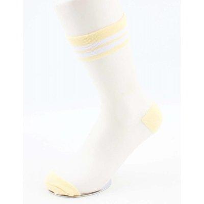 "Socks ""Mesh & Stripes"" yellow, per 2 pairs"