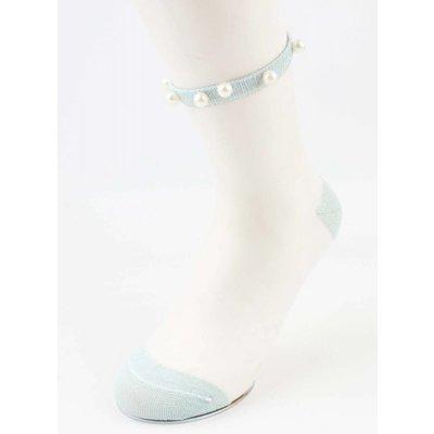 """Socken """"Mesh & Pearls"""" blau, doppelpack"""