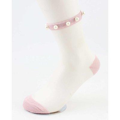 """Socks """"Mesh & Pearls"""" pink, per 2 pairs"""