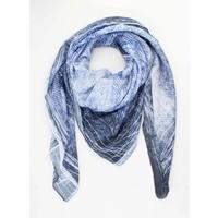 """Sjaal """"Pocket"""" blauw/wit"""