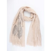 "Scarf ""Dreamcatcher"" light pink"