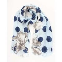 """Schal """"Dots & Blumen"""" blau"""