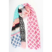 "Scarf ""Mix & Match"" pink"
