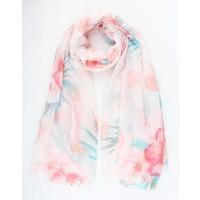 """Sjaal """"Beautiful flower"""" roze"""