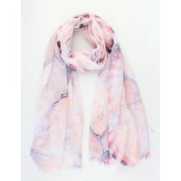 """Scarf """"Insect wings"""" pink"""
