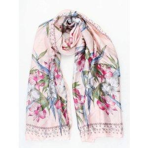 """Sjaal """"Stars & Flowers"""" roze"""