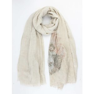 "Scarf ""Shiny lion"" taupe"