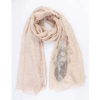 "Scarf ""Shiny lion"" old pink"
