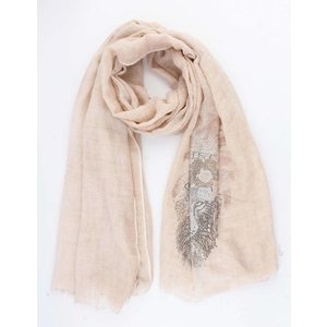 """Scarf """"Shiny lion"""" old pink"""