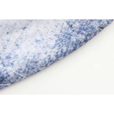 """Schal """"Pocket"""" blau/weiß"""