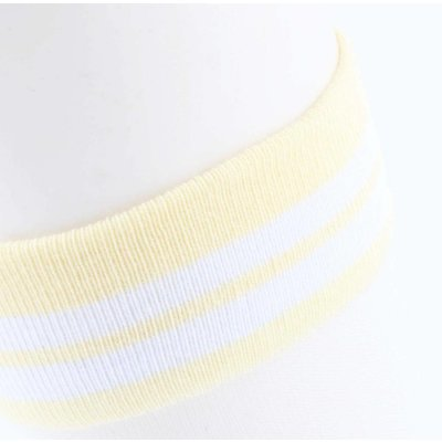 """Sokken """"Mesh & Stripes"""" geel, per 2 paar"""