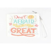 "Clutch ""Don't be afraid ""white"