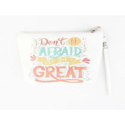 "Toilet bag ""Don't be afraid"" white"