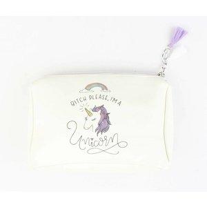 "Cosmetic bag ""I'm a Unicorn"" white"