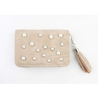 "Wallet small ""Pearls"" taupe"
