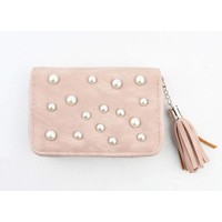 """Wallet small """"Pearls"""" pink"""