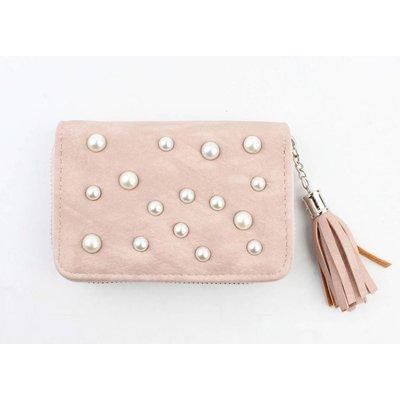 """Geldbörse klein """"Perlen"""" rosa"""