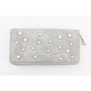 """Wallet """"Pearls"""" grey"""